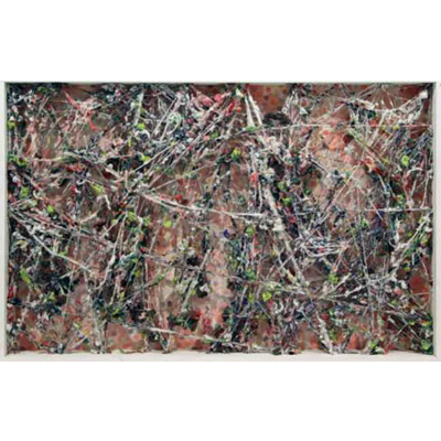 <b>ACCUMULAZIONE MULTICOLOR</b> 1970<br> 								Dripping Art con filati accumulati e distribuiti su tela stampata in teca di legno 								Art Dripping with filaments accumulations distributed on the canvas<br> 								140x90 cm