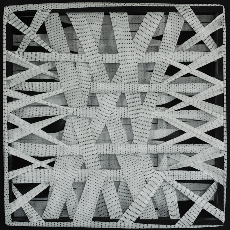 <b>Dotted Abstract Diagram</b>, 1980<br>Nylon fabric on wood<br>90 x 90 cm - 35.4 x 35.4 in.